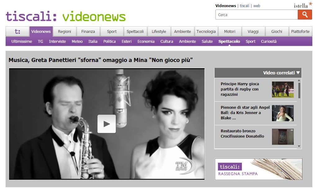 web_Il nuovo video di Greta Panettieri sul portale di Tiscali