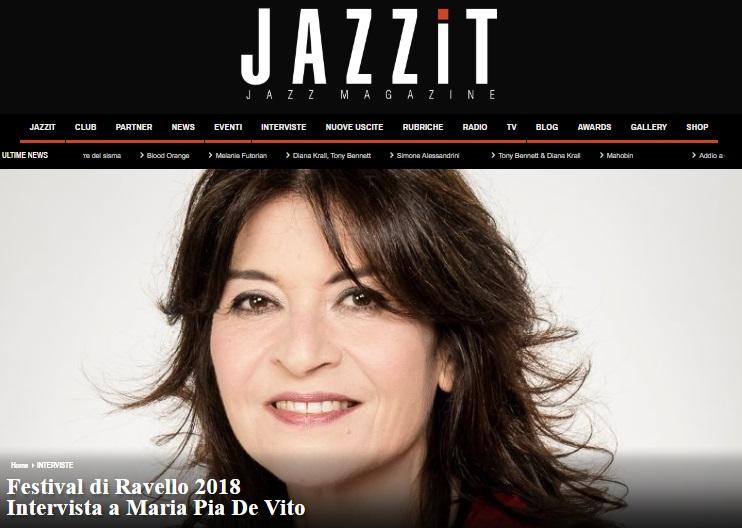 web_Intervista MARIA PIA DE VITO su JAZZIT