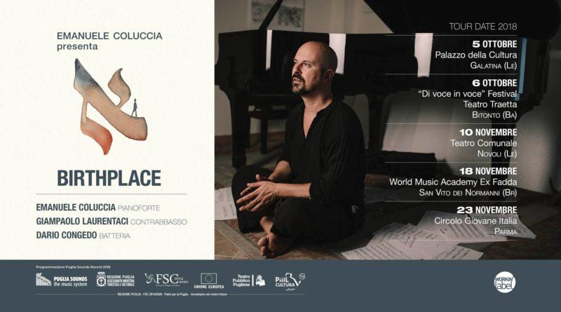 """Emanuele Coluccia in concerto a Parma con """"Birthplace"""""""