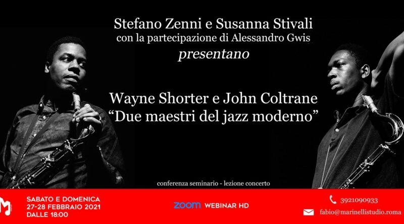Due giorni in live streaming dedicati a Wayne Shorter e John Coltrane: maestri del Jazz moderno